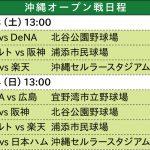 球春到来!プロ野球沖縄キャンプ&オープン戦